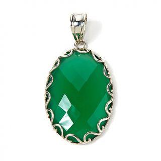 Himalayan Gems™ Bold Oval Gemstone Sterling Silver Pendant