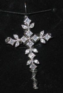 """Rebecca Ellis Handcrafted 2"""" Cz w/ Snowflake Pendant Cross  Other Products"""