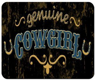 Genuine Cowgirl Custom Mouse Pad from Redeye Laserworks : License Plate With Horses : Electronics