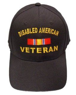 Disabled American Veteran BLACK Baseball Cap Hat DAV Army Navy Air Force Marines Coast Guard: Everything Else