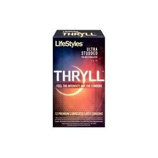 Gift Set Of Lifestyles Thryll 12 Pack And one package of Trojan Fire and Ice 3 condoms total in package: Health & Personal Care