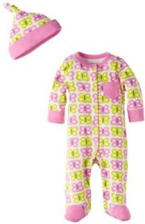 Offspring   Baby Apparel Girls Butterfly Footie and Hat: Clothing