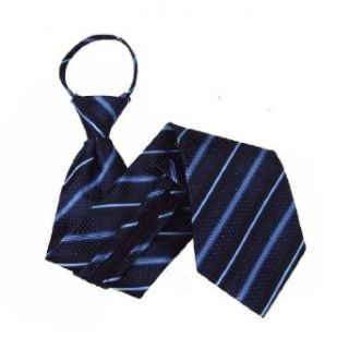 B ZIP 10022   Navy   Black   Blue Zipper Tie   Boys ( Fits 9 13 years old ): Clothing