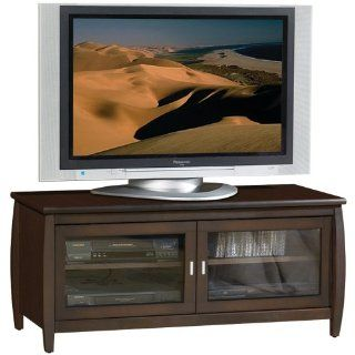 TechCraft SWP48 48 Inch Wide Flat Panel TV Credenza   Walnut: Electronics