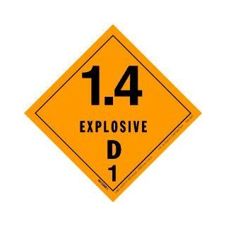 "Explosive 1.4D Label, 4"" X 4"", hml 445, 500 Per Roll: Everything Else"