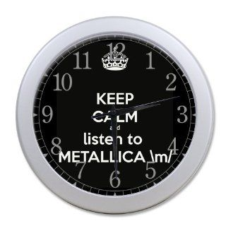 Metallica Bono Rock band Silver Color Wall Clock Decorative 10 Inch, Personalized Wall Clocks, Large Numbers