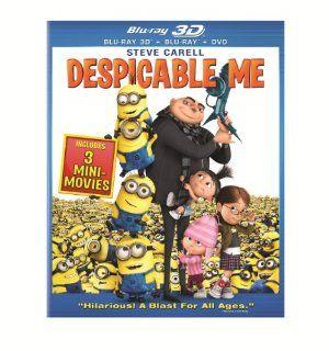 Despicable Me (Blu ray 3D Combo Pack (Blu ray 3D + Blu ray + DVD)): Steve Carell, Jason Segel, Russell Brand, Julie Andrews, Kristen Wiig, Miranda Cosgrove, Will Arnett, Danny McBride, Jack McBrayer, Chris Renaud, Pierre Coffin, Chris Meledandri, John Cohe