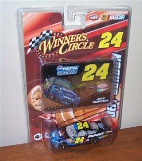 2008 Jeff Gordon #24 Dupont Pepsi Black Blue Flames Monte Carlo Car of Tomorrow COT Rear Wing Front Splitter 1/64 Scale & Bonus Foil Color Card Winners Circle Toys & Games