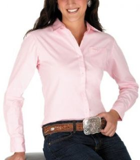Wrangler Women's Tough Enough To Wear Pink Breast Cancer Awareness Long Sleeve,Pink,X Small: Clothing