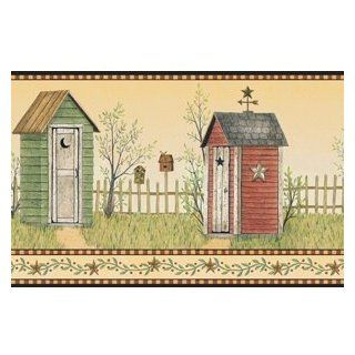 Country Outhouse Wallpaper Border BG1620bd