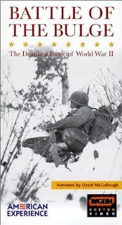 American Experience   The Battle of the Bulge [VHS]: David McCullough, David Ogden Stiers, Michael Murphy, Joe Morton, Linda Hunt, Will Lyman, Liev Schreiber, Philip Bosco, Oliver Platt, Blair Brown, Brendan Gill, Eli Wallach, Rocky Collins, Henry Hampton: