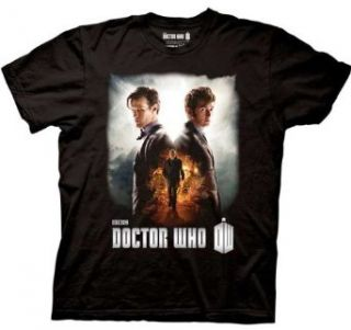 Doctor Dr Who Doctors Matt Smith David Tennant Men's Black T shirt Clothing