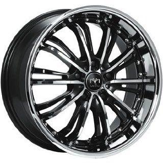 Motiv Mystique 18x8 Chrome Black Wheel / Rim 5x4.5 with a 42mm Offset and a 73.00 Hub Bore. Partnumber 402CB 8806542 Automotive