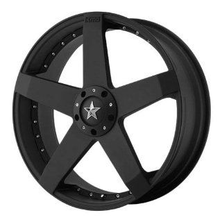 KMC KM775 20x8 Black Wheel / Rim 5x4.5 & 5x4.75 with a 32mm Offset and a 72.60 Hub Bore. Partnumber KM77528004732: Automotive