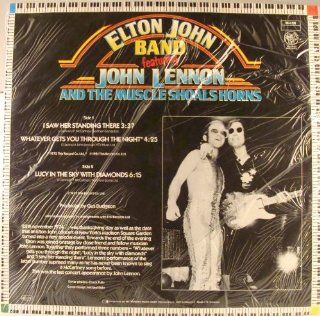 "Elton John Band Featuring John Lennon (BEATLES) & Muscle Shoals Horns I Saw Her Standing There German 12"" W/PS: Music"