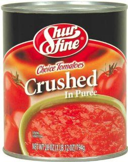 Shurfine Choice Tomatoes Crushed in Puree   12 Pack : Canned And Jarred Crushed Tomatoes : Grocery & Gourmet Food