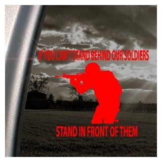 US Military Red Decal Soldier Troop Truck Window Red Sticker