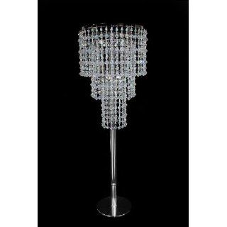 "30"" tall Crystal like Beaded Chandelier   Wedding Centerpiece: Home Improvement"