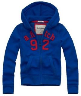 Abercrombie Kids Guys Elk Lake Waffle Lined Hoodie (Small, Blue) Clothing
