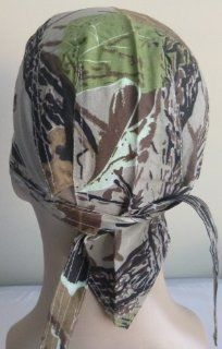 Camouflage Camo Leaf Mossy Oak Skull Cap Bandana Head Wrap Bikers Doo/Du Rag: Everything Else