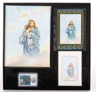 Jesus with Boy in Heaven Memorial Package Cristo Series Memorial Package Includes Register Book, Book Mark, Crystal Rosary, Prayer Plaque, 50 Acknowledgement Cards, & 104 Memorial Prayer Cards Cromo Nb Artwork   Milan, Italy: Everything Else