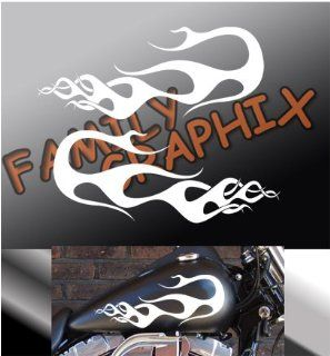 "Motorcycle Flames Gas Tank Flame Decals Harley 13""x5.5"" Flm105: Everything Else"