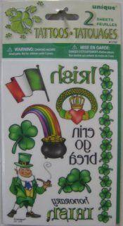 St. Patrick's Day Irish Tribal Shamrock Temporary Tattoos #107 Clothing