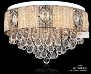 Gorgeous Crystal Ceiling Lamps Fixtures Lights Hotels Bedroom Parlor Lighting New 110 V: Home Improvement