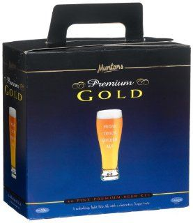 Muntons Premium Gold 40 Pint Beer Kit, Midas Touch Golden Ale, 113 Ounce Box : Beer Brewing Recipe Kits : Grocery & Gourmet Food