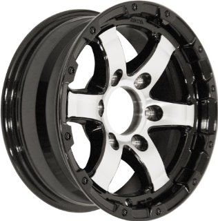 14x5.5 Sendel T08 Trailer Gloss Black & Machined Wheel Rim 5x114.3 5x4.5 0mm Offset 123.95mm Hub Bore Automotive