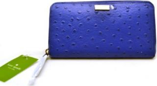 Kate Spade Neda Alexander Avenue Cobalt Blue Zip Around Wallet Clutch (Blue) WLRU1330: Shoes