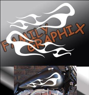 "Motorcycle Flames Gas Tank Flame Decals Harley 13""x5.5"" Flm119: Everything Else"