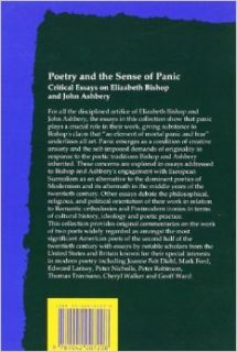 Poetry And The Sense Of Panic. Critical Essays on Elizabeth Bishop and John Ashbery. (Costerus NS 124): Lionel KELLY: 9789042007208: Books