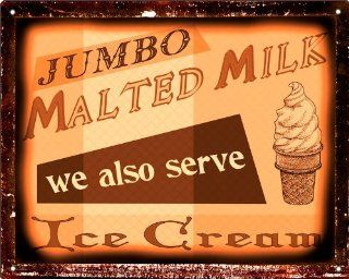 Dairy cow milk ice cream malt shop sign for diner Deli / Restaurant / Kitchen 138 : Other Products : Everything Else