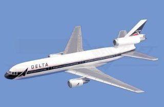 DC 10,� Delta Airlines Aircraft Model Mahogany Display Model / Toy. Scale 1/138 Toys & Games