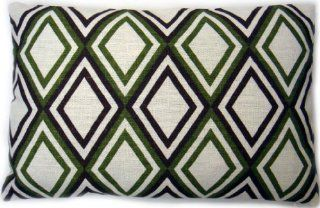 Zoreye Decorative Throw Pillow (143GRNBRN_1218) 12x18 Standard Lumbar Pillow Green, Brown