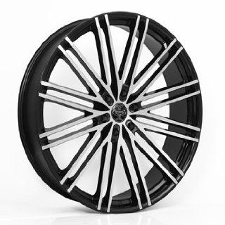 "22"" Wheels Rims Versante Ve227 22x9 Black Machined Face 6 Lug 6x135 6x139.7 Automotive"