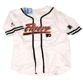 Philadelphia Flyers Embroidered Baseball Jersey   White Large : Sports Fan Baseball And Softball Jerseys : Sports & Outdoors