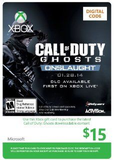 Xbox $15 Gift Card (Call of Duty Ghosts:�Onslaught DLC) [Online Game Code]: Video Games