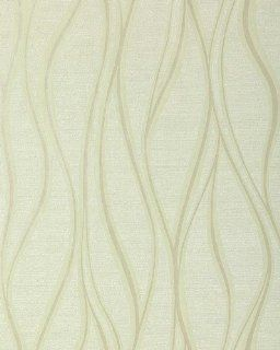 EDEM 147 05 design stripe vinyl wallpaper light green olive green white: Home Improvement