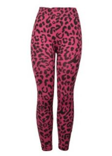 143Fashion Plus Size Leopard Print Legging, Pink, Free Size: Clothing