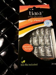 TIARA Styles Artificial Nails Art Glue On BEAUTY TIP compare Kiss FV54: Everything Else