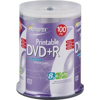 Memorex 4.7GB 8x Printable DVD+R (100 Pack Spindle) (Discontinued by Manufacturer): Electronics