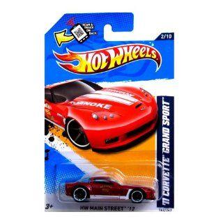 2012 Hot Wheels HW Main Street '11 Corvette Grand Sport Red [Roanoke Fire Dept] #162/247 Toys & Games