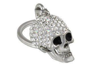 Harley Davidson Car Truck SUV Key Chain Metal   Skull w/ 161 Mini Swarovski Crystals & Harley Davidson Script: Automotive