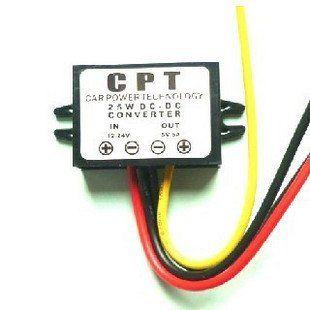 (C5)DC DC 12V 24V Step down to 5V 5A 25W Car Voltage PSU Converter Regulator Module: Automotive
