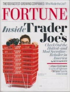 Fortune Magazine September 6, 2010 Inside Trader Joe's (Volumne 162, Number 4) Fortune Magazine Books