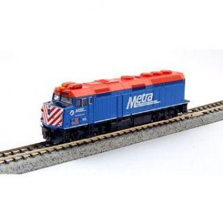 "Kato USA Model Train Products EMD F40PH #163 Chicago Metra ""City of Elmhurst"" N Scale Train: Toys & Games"