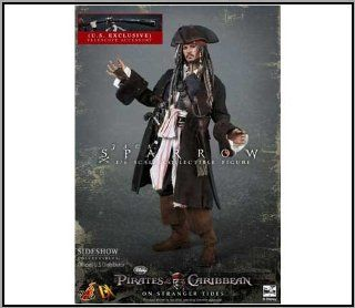 "Hot Toys Pirates of the Caribbean Captain Jack Sparrow DX06 12"" with Telescope: Toys & Games"