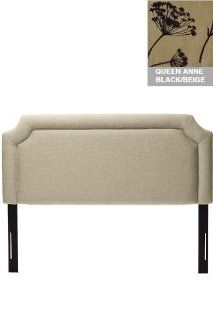 Custom Cardon Upholstered Headboard   queen, Queen Anne's Lace Black/Beige   Bathroom Furniture Sets